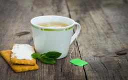 Mint Tea with cookie Royalty Free Stock Image
