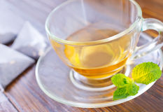 Mint tea. In the cup stock photography