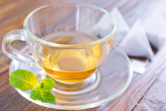 Mint tea. In the cup royalty free stock photography