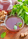 Mint tea. In glass cup stock photography
