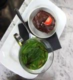 Mint tea in Glass Mug Stock Image