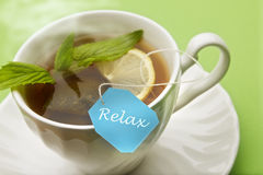 Relax Mint Tea Stock Photo