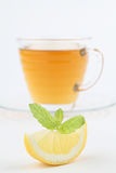 Mint tea with lemon Stock Photos