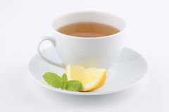 Mint tea with lemon Stock Images