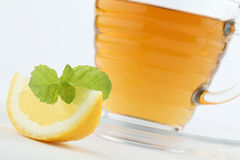Mint tea with lemon Royalty Free Stock Image