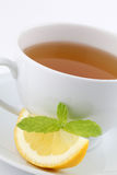 Mint tea with lemon Royalty Free Stock Images