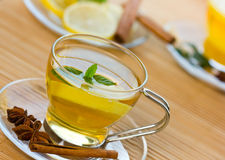 Mint tea with lemon Royalty Free Stock Photo