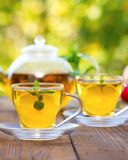 Mint tea with lemon Royalty Free Stock Photos