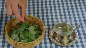 Mint tea prepare Royalty Free Stock Images