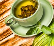 Mint Tea Refreshments Represents Cafeterias Restaurant And Cafes. Mint Tea Refreshments Showing Drinks Fruits And Cafes stock images