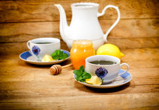 Mint tea - served tea for two Stock Photography