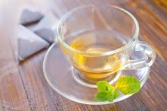 Mint tea. On a table stock image