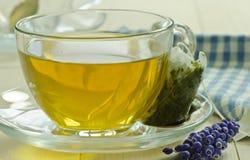 Mint tea with tea bag Royalty Free Stock Photo
