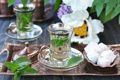 Mint tea. Royalty Free Stock Images