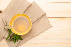 Mint tea. On wooden background royalty free stock images