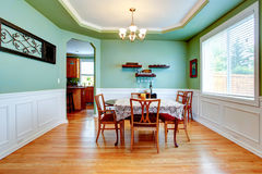 Mint tone dining room Stock Photo