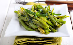 Minted green bean appetizer Royalty Free Stock Photography