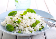 Minted rice with peas Royalty Free Stock Photography