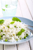 Minted rice with peas Stock Photo