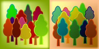 Minted wood on colored foil for decoration of ecological subject. S. Green leaf of trees on a metallic background Stock Photography