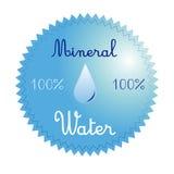 minten för is för flaskexponeringsglas vaggar den mineraliska vatten Fotografering för Bildbyråer