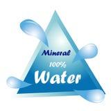 minten för is för flaskexponeringsglas vaggar den mineraliska vatten Arkivfoton