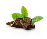 Mintkaramellchoklad royaltyfri bild