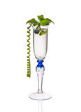 Mintkaramellcoctail i ett exponeringsglas Royaltyfri Bild