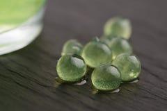 Mintkaramellkaviar, molekylär gastronomi arkivbild