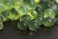 Mintkaramellkaviar, molekylär gastronomi royaltyfria bilder
