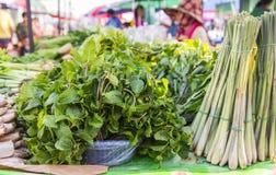 Mints leaf in display market, bangkok, thailand Royalty Free Stock Photos