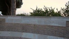 Minturno war cemetery. Vesuvius volcano, Italy. May 2015 monument Minturno war cemetery 1945 stock footage