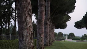 Minturno war cemetery. Vesuvius volcano, Italy. May 2015 monument Minturno war cemetery 1945 stock video footage