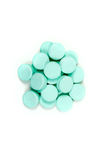 Minty antacid tablets. On white background Royalty Free Stock Images