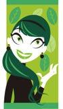 Minty Girl Stock Image