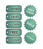 Minty Sale Tags Royalty Free Stock Photos