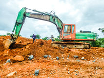 Minujący w Liberia, afryka zachodnia zdjęcie royalty free