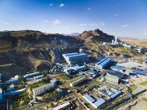 Minuje fabrykę w Wewnętrznym Mongolia Chiny Fotografia Royalty Free