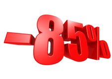 Minus 85 percent Stock Image