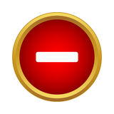 Minus icon, simple style Stock Photo