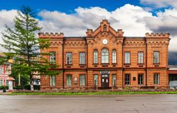Minusinsk Regional Museum of Local Lore royalty free stock image