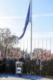 Minut av tystnad i hedersgåva till offren av Paris, råd av Royaltyfri Fotografi
