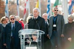 Minuta cisza w uznaniu ofiary Paryż, rada Obraz Royalty Free