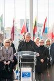Minuta cisza w uznaniu ofiary Paryż, rada Zdjęcie Stock