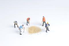 Minuta pracownika zabawkarska praca z cukierem Zdjęcia Royalty Free
