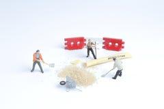 Minuta pracownika zabawkarska praca z cukierem Obraz Stock