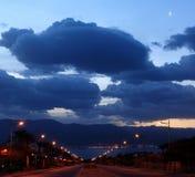 Minute 30 vor Sonnenaufgang Lizenzfreies Stockfoto