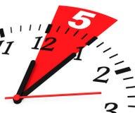 Minute 5 stock abbildung