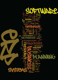 Minute Guide To Erp Text Background  Word Cloud Concept Stock Photo