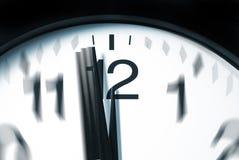 12 minute klockan ett till Royaltyfri Fotografi